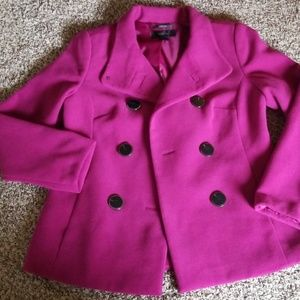 Style & Co. Magenta Winter Coat S
